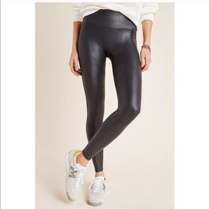 NEW Spanx Black Faux Leather Leggings S